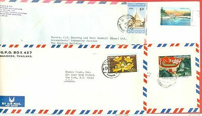 Thailand  8 diff stamp Solo used on 8 cover to USA  Lot#4244