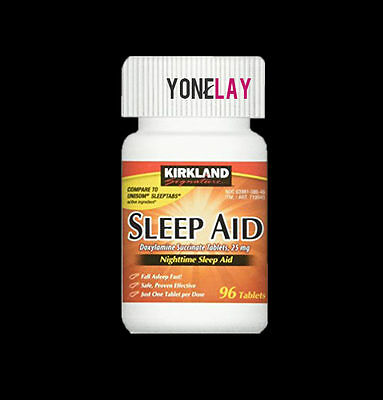 Kirkland Nighttime Sleep Aid Doxylamine Succinate Sleeping 25 mg Compare Unisom