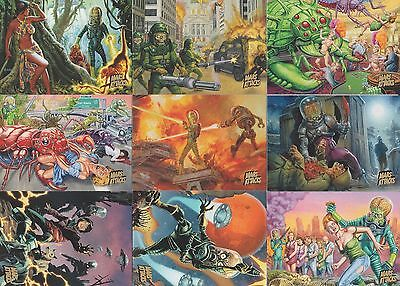 2013 Topps MARS ATTACKS INVASION GOLD PARALLEL CARD LOT of 17 different