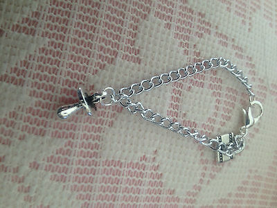 Reborn Dolls Bracelet - Silver Chain with Dummy Charm #2