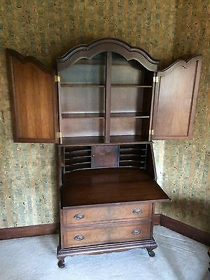 "Antique Wood Secretary Desk Bookcase 73"" tall x 35"" wide; 17"" deep"
