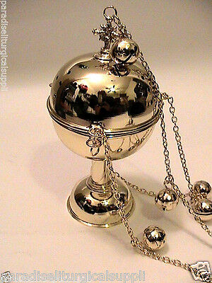 New Orthodox Incense Censer Gold Plated Liturgical Ethiopia Church Chains Bells