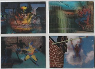 1996 MARVEL MOTION Complete 4 card PROMO set in like-new condition