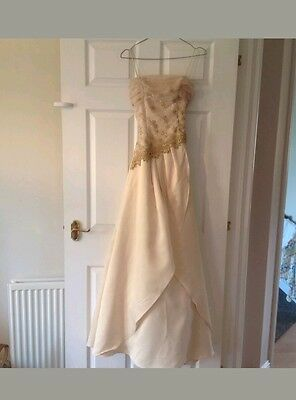 Ladies Evening Gown, Gold And Yellow, Size 8,special occasion,prom or wedding