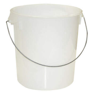 RUBBERMAID Polypropylene Round Storage Container,18 qt., FG572924CLR, Semi-Clear
