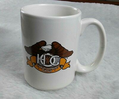 Vtg Harley Davidson Owners Group Mug Coffee Cup