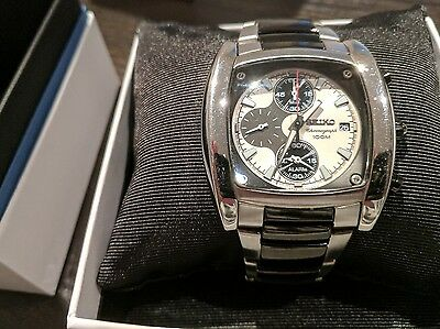 Seiko Gents Chronograph Steel Watch Cal. 7T62