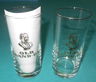 Old Grand Dad - Barware - 10 Oz. Glasses - 5 1/4 Tall - Set of 2