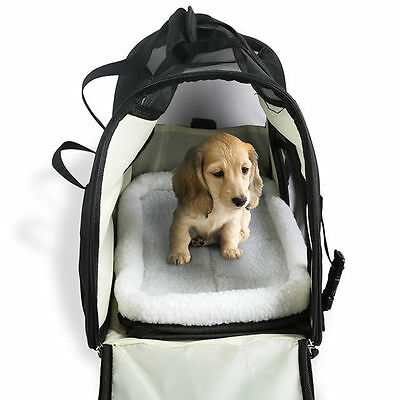 Pet Carrier Soft Sided Large Cat / Dog Comfort Black Travel Bag Airline Approved