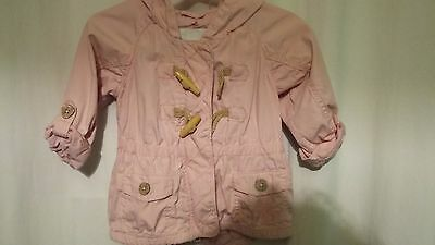 girl pink NEXT spring/summer jacket 12-18months