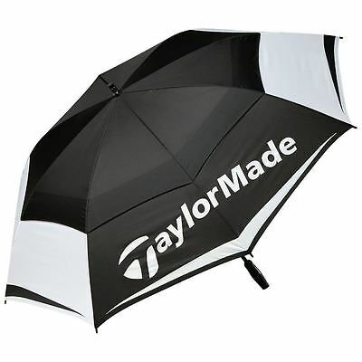 "Taylormade Golf Tour Double Canopy 64"" Umbrella - Black/white"