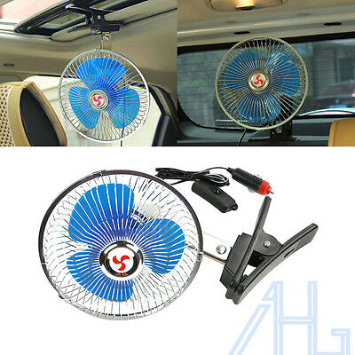 Portable 7 inch 12V Dashboard Vehicle Auto Car Cooling Oscillating Fan Clip-On