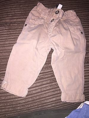 Baby Girl Next Chinos Trousers Stone Age 6-9 Months