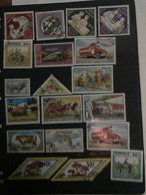 stamps  Mongolia - Used - Lot 15