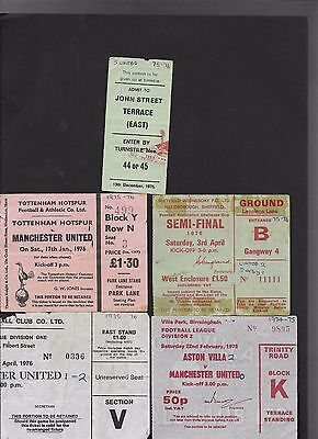 Ticket Leicester City V Manchester United 24-4-1976