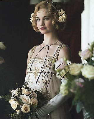 Lily James Personally Signed Photo, Downtown Abbey, Proof Shown, 2