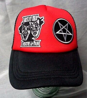 motley crue theatre of pain hat cap trucker pentagram 80s metal ozzy ratt wasp