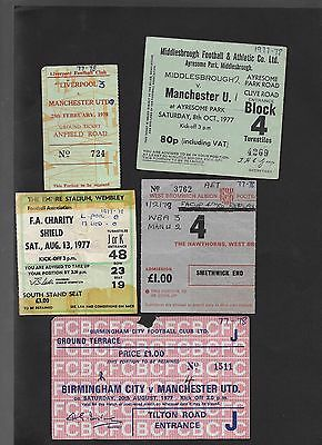Ticket Liverpool V Manchester United 13-8-1977 Charity Shield