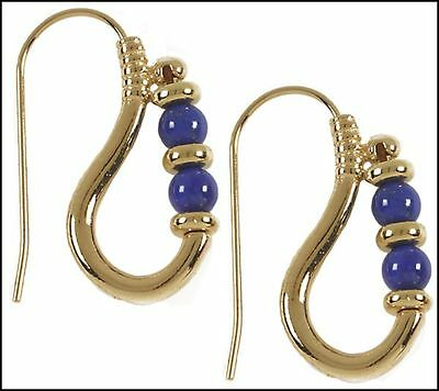 Egyptian Reproduction of Ptolemaic Lapis Luzuli  Earrings