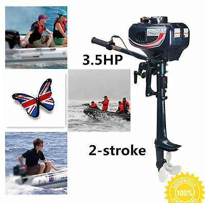 3.5HP 2 Stroke CDI System Outboard Motor Fishing Boat Engine Water Cooling UK