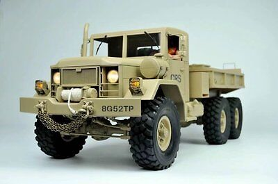 NEW 1:10 RC Military 6x6 Rock Cralwer Off Road  Tractor Truck HC6 CRS KIT SCX10