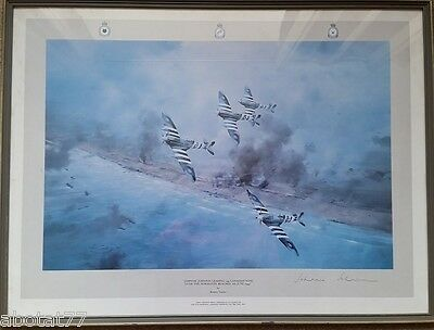 Robert Taylor signed print by Johnnie Johnson.
