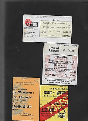Ticket Nottingham Forest V  Manchester United 24-1-1981 Fa Cup