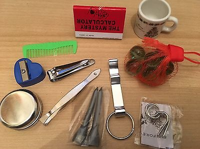 Christmas crackers insert gifts 11 items Excluding 4 of joke tabs  Sell As 1 Lot