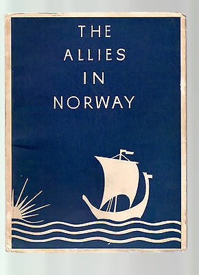 1946  Edition  of  THE ALLIES IN NORWAY       Liberation of Norway in 1945