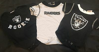 Raiders Outfits Size 3/6 Mos