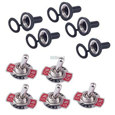 5 x Heavy Duty 6 Pin DPDT 3 Position 20A 150VAC ON/OFF/ON Rocker Toggle Switch