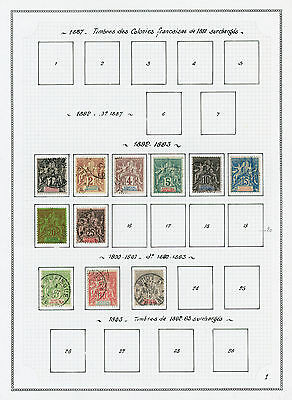 Senegal 1892-1944 comprehensive mint and used collection on album pages