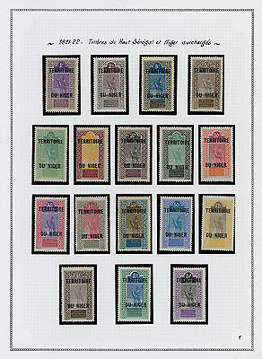 Niger 1921-1944 collection on album pages including both MH * and used stamps