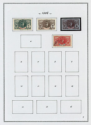 Mauritania 1906-1944 very nice collection of mint and used on album pages