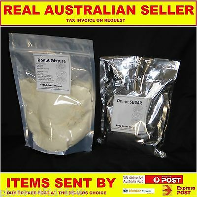 Donut Mix 2Kg + 1Kg Pack Of Cinnamon Sugar Just Add Water Just Like The Shops
