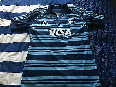 Rare Adidas Argentina Rugby Shirt Jersey Player Issue Match Worn