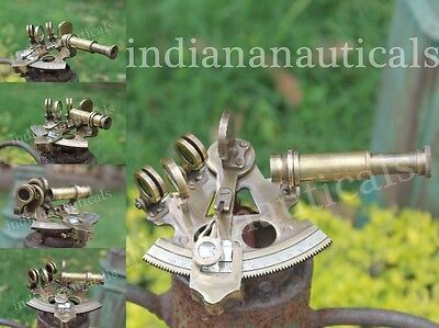 Astrolabe Solid Brass Sextant Nautical Antique Marine Navigation Working Sextant