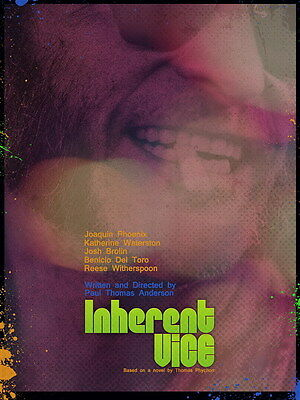 "002 Inherent Vice - Adventure Comedy Crime Movie 24""x32"" Poster"