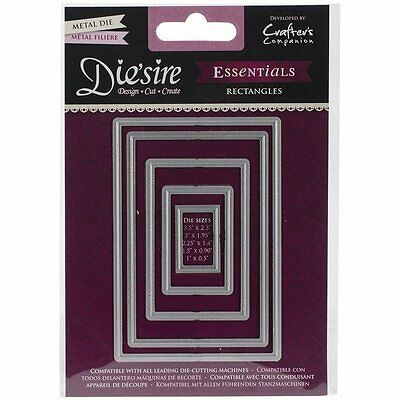 Crafter's Companion Die'sire Cutting Metal Die - Rectangles