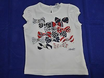 NWT Microbe baby girl white short sleeve t shirt size 2A, 86/92