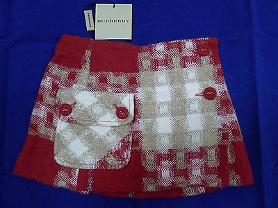 New with tags Burberry baby girl red lined skirt size 6 months/68 cm