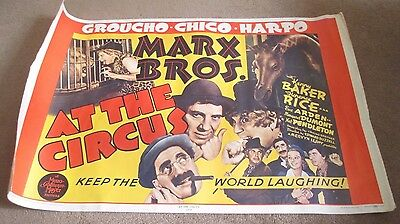 Marx Brothers - At The Circus - Rare 1971 Original Poster For 1939 Film