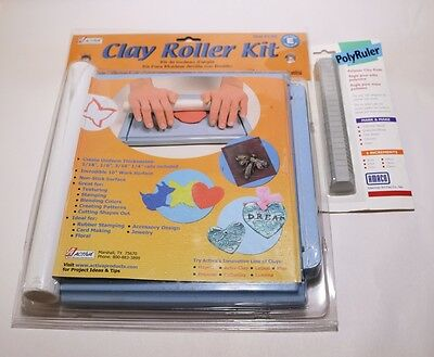 Activa Clay Roller Kit AV1350 with free Amaco Polyruler