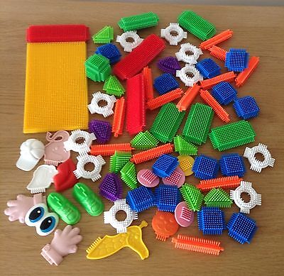 Stickle Bricks Of Various Shapes Includes Base Board. Bundle.