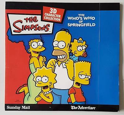 The Simpsons Who's Who of Springfield 3D Characters & Board Collection Complete