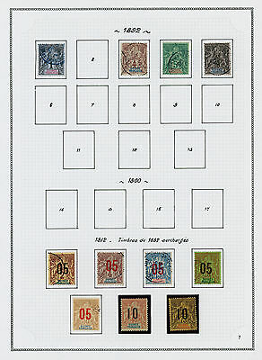 French Guinea 1892-1944 mint and used collection on album pages