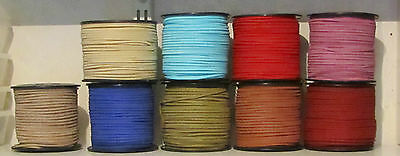 Faux Buckskin Cord 3 x 1.5 mm  8 Colours