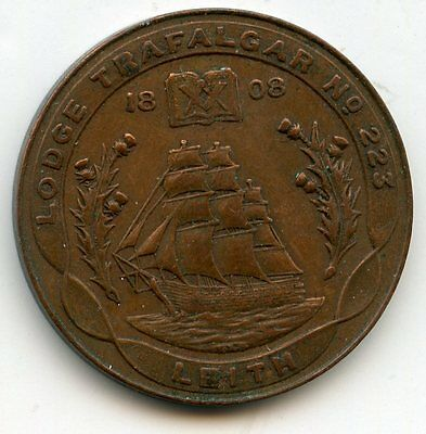 LODGE  Trafalgar Leith  Lodge NUMBER 223 MASONIC  PENNY  TOKEN