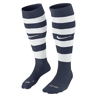 "1 Pr Nike ""hoops Ii"" Kids Football Socks Navy Blue & White Uk Shoe Size 2-5(S)"