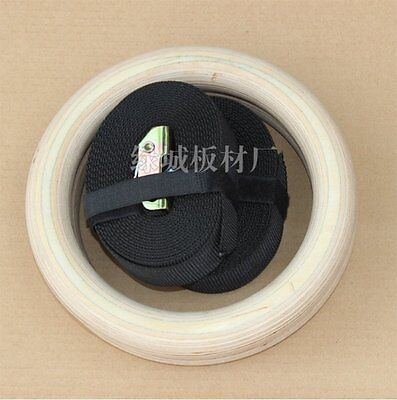 Exercise Wooden Gymnastic Rings Crossfit Gym Workout Strength Training 25/38mm